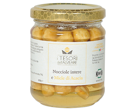 Honey dipped hazelnuts, The Treasures from the beehive
